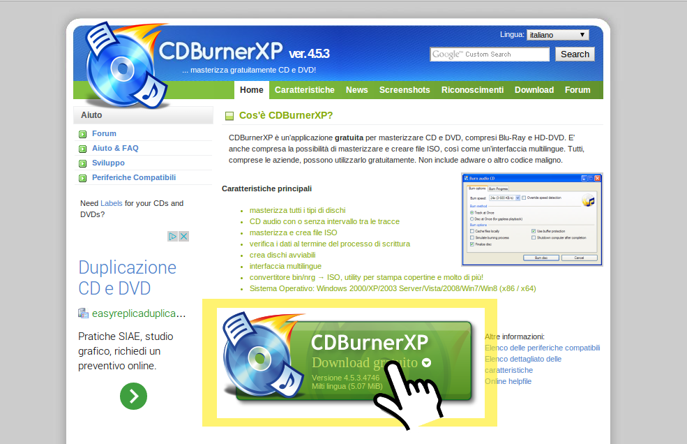 cdburnerxp.se/it/home download