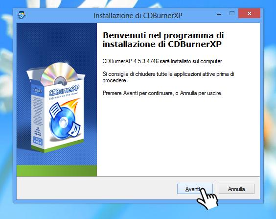 CDBurnerXP - Avanti