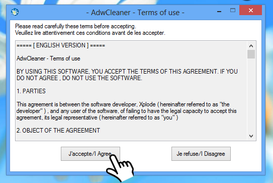 AdwCleaner - accetta