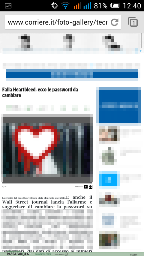 corriere.it - gratis su cellulare android