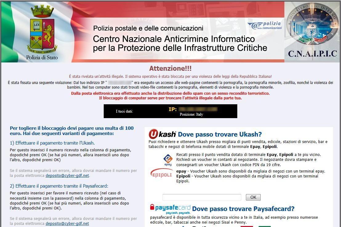 virus polizia