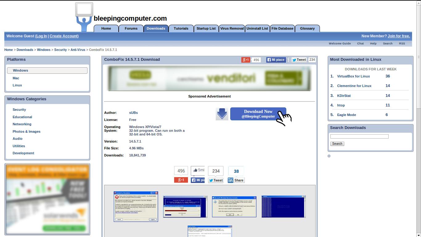 combofix - sito web ufficiale
